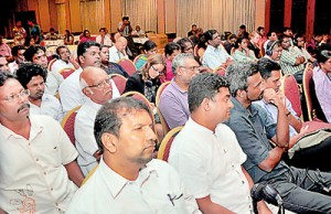 Section of the audience at the SLPI in Colombo