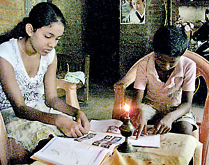 The children: Studying for  a brighter future