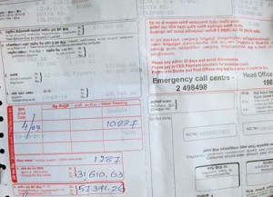 The electricity bill of a business outlet in Colombo: More shocks to come