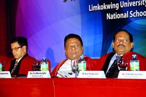 Left to right- Prof.L.P. Jayatissa, Hon. Dullas Alahapperuma, Dr . E.A. Weerasinghe