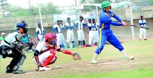 Baseball action pic - Sri Lanka vs Afghanistan at SAARC Cup