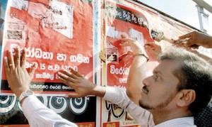 Posters come up in Fort Railway Station: Opposition parties get ready to strike back