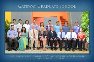 The first batch of students