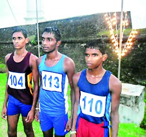 Winners of the 10 Km run for boys under 20