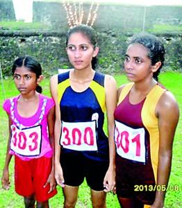 Winners of the 10 Km run for women