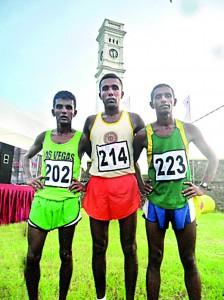 Winners of the half marathon for men