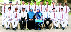 Seated(From left): M. Rahumath Ali, M.T.M Iqlas (Captain), D.R.V. Dharmasri (Prefect of Games), A.L.S Nazeera Hassanar (Principal), Farana Amirdeen (PTI), R. Sanjeewan(Master in Charge), M.M. Muize (Vice Captain), T. Izrath. Standing (From left): T. Osman, A. Basith, M.S.M. Umar, M. Ayas, M.R.M. Minhaj, M.M. Navees, M.Aroos, M.Nilamdeen, Akeel Saifudeen, M. Noorul Haq, Nafleen. Absent: Rimas Nizam, M.J.M. Rifkan.