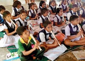 Linked in: Students from Jayashanka  Kanishta Vidyalaya