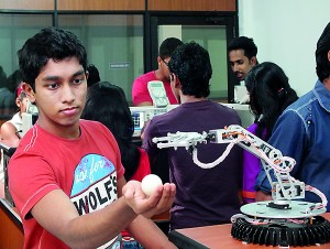 Mechanical Engineering Students in a Practical Session