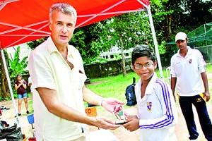 The Most Outstanding Player of the tournament Akitha Gunadasa