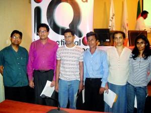 WQC 2012 Sri Lankan winners, Lathikka , Haren, Chamara, Nipunika and Hasini with Ruwan Senanayake on extreme left