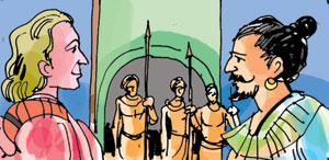 King Vimaladharmasuriya who was passing his time in the capital city, was thinking of a plan to chase away the Portuguese from the country. The king then heard that a naval team from Holland had come to Batticaloa and that they were anxiously waiting to meet the king. This took place in 1602.