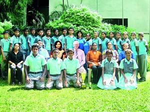 Seated (from left): Chathuri Lakshika (Asst. Coach), Lalith Opanayake (Head Coach), Wenuri Hettiarachchi (Principal), Sam Chandrasena (Director ECA/PE), Omika Damayanthi (Teacher-in-charge), Nirodha de Alwis (Asst. Teacher-in-charge), Madhubashi Wijeratne (Asst. Coach) Standing (from left): Ludeesha Gunawadane, Vihan Seneviratne, Rushdy Ashrof, Devin Diddeniya, Shenal Silva, Shavin Kaluthanthri, Asel Perera, Thurith Siriwardane, Vihanga Karunasekara, Anjali Ranaweera, Natasha de Mel, Sharanya Jayakody, Ashani Diddeniya, Senuri Goonasinghe, Chanuki Jayawardana, Devuni Wickramasinghe, Saduni Wijesinghe, Nethmini Silva Squatting (from left): Yasith Jayakody, Shanuka Sapugoda, Vishene de Silva, Senuri Sarathchandra, Sandalipuja Liyanage