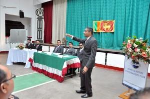 A prepared speech in progress