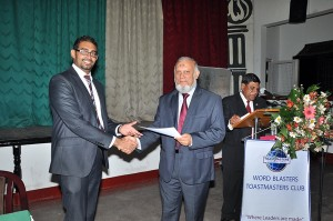 Awarding of certificates by the chief guest, Fazal Izzadeen.