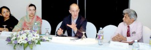 Nihal Rodrigo (extreme right) at the Strategic Studies Network Meeting in Jordan