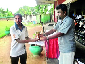V D Ranasinghe of KamburupitiyaPS was the champion female athlete of the meet