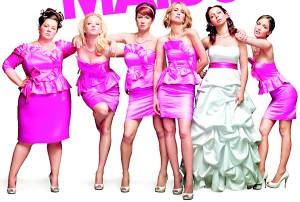 Bridesmaids (2011) with Melissa McCarthy as Megan, Wendi McLendon-Covey as Rita, Ellie Kemper as Becca, Kristen Wiig as Annie Walker, Rose Byrne as Helen Harris and Maya Rudolph as Lillian Donovan