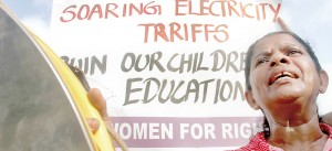 Turning the heat on: Women's activist groups also add their voice. Pic by Indika Handuwala