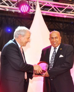 Seen here Mr. Mohan Pandithage receives  his  award