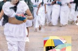 Rain on minister's parade