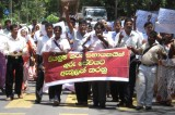 Asst. Teachers in protest campaign for inclusion into permanent cadre