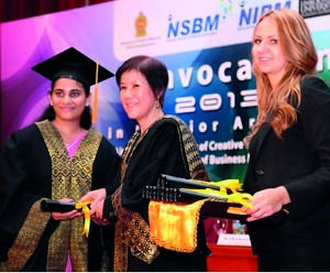 Ms Bernadeth Romanjaline De Silva Awarded As The Best Student Of Batch And Top Performer At Interior Design Convocation Held On 15th May 2013