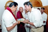 """""""Punyawantha Buddha Bhumi Wandanawa"""" presented to President"""
