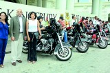 The Kingsbury salutes the Harley Davidson riders on a charity ride
