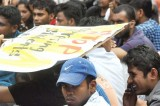 Kelaniya undergrads protest for a new hostel
