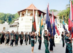 Flag blessing at Dalada Maligawa