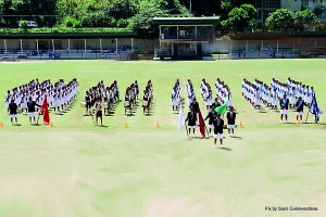 Annual Sports Meet Band and March Past Display