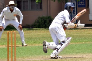 St. Joseph's skipper Dylan Fernandopulle  hit 50 runs in the second innings against DSS in the game they won. - Pic by Ranjith Perera