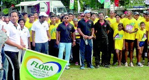 Sri Lanka cricketing legends Romesh Kaluwitharana and Kumar Sangakkara led hundreds of runners