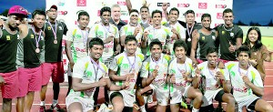 Sri Lanka was placed third in Asian Sevens Series in Thailand. - Pic courtesy SLRFU