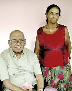 Celebrate 60 years together.  Pic by Athula Devapriya