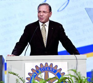 ST @- Lankan elected- addressing International Assembly