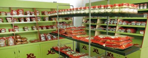 Tempting ranges: Well stocked shelves at the Maya Avenue showroom