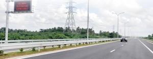 A test run on the new expressway Pix by Indika Handuwala