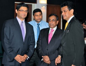 Picture shows from left - Attorney-General and Minister for Public Enterprises, Aiyaz Sayed-Khaiyum,  Ports Terminal Ltd; Chief Operating Officer, Hasthika Dela;  Deputy Chairman and Managing Director of Aitken Spence PLC, J.M.S. Brito and Chairman of Aitken Spence Maritime and Director of Aitken Spence PLC  - Dr. Parakrama Dissanayake