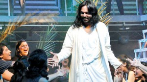 Chrisantha de Silva  in the role of Jesus Christ.  Pic by Susantha Liyanawatte