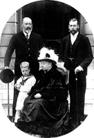 Four generations of British Monarchs Queen Victoria (1837-1901), Edward VII (1901-1910), George V (1910-1936), and the uncrowned Edward VIII (1936)