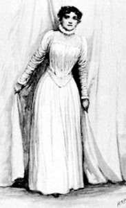 Henry Paget's illustration of Florence as Rebecca West in Ibsen's Rosmersholm