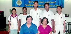 The Sri Lanka junior team -- Pix by Amila Gamage