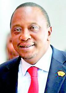 Kneya president Uhuru kenyatta
