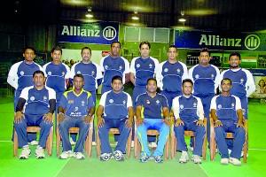 The two Lankan teams for the World Masters Indoor Cricket Series: Top Over 35 team and below Over 40 team
