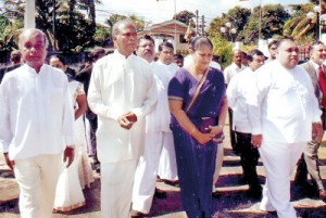 SPC Governor Kumari Balasuriya arriving for the  6th opening session  of the Council