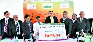 Sponsorship being handed over to the organising committee