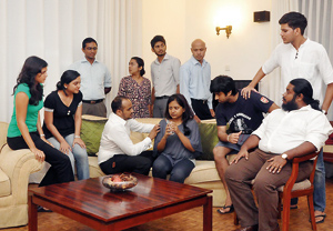 The cast of Cold Theatre 7  Pic by Indika Handuwala