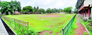 The state of the Hendry Pedris stadium at present. Pic by Mangala Weerasekera